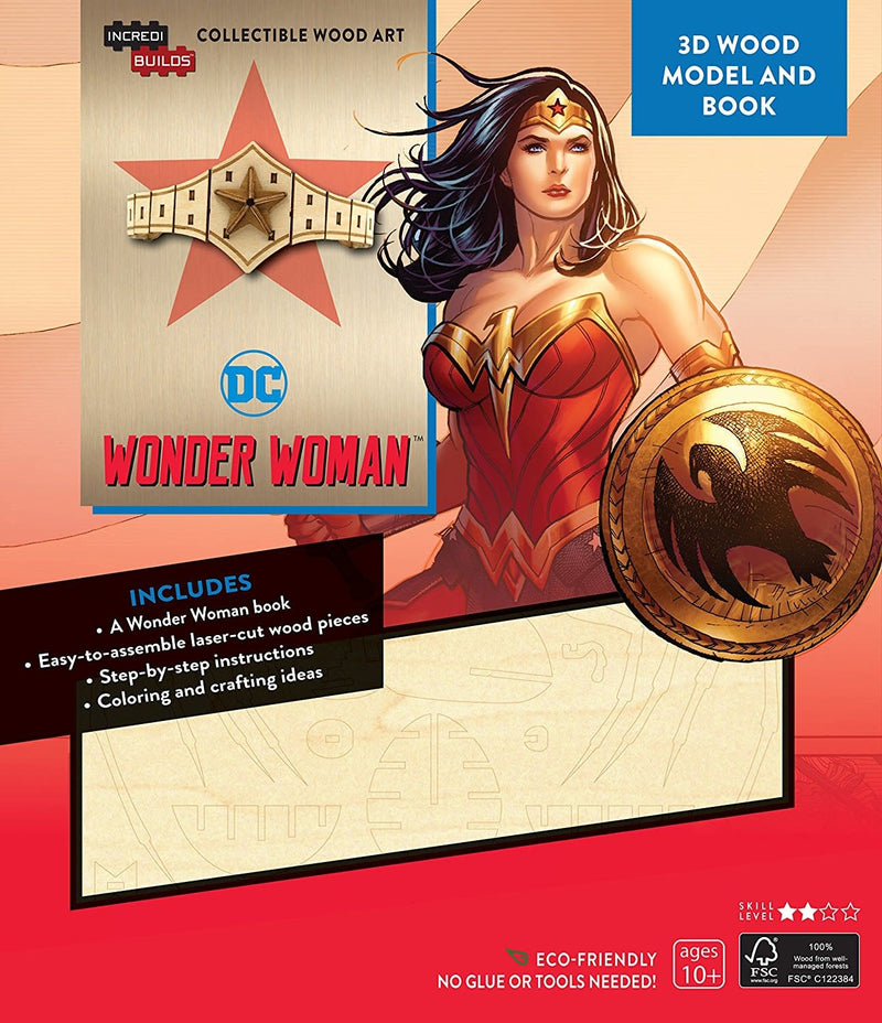 Wonder Woman Tiara 3D Wood Model