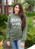 Grace Wins- Long Sleeve/Crew