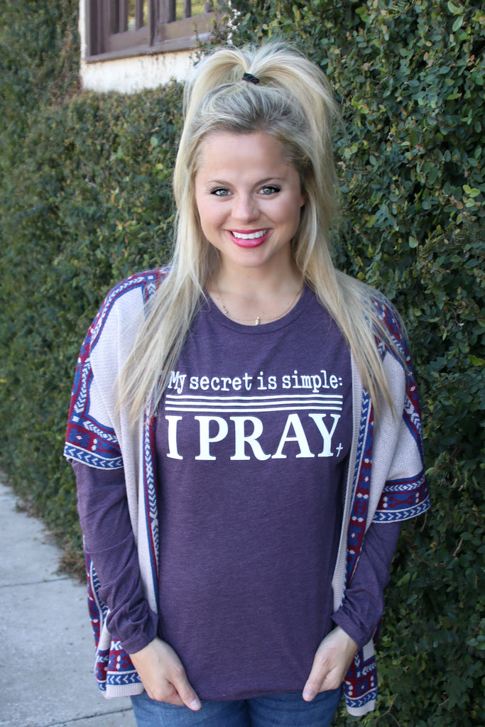 My Secret Is Simple (Purple) - Long Sleeve