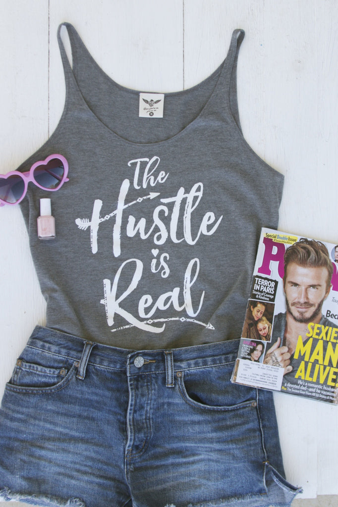 The Hustle Is Real - Tank - Grey