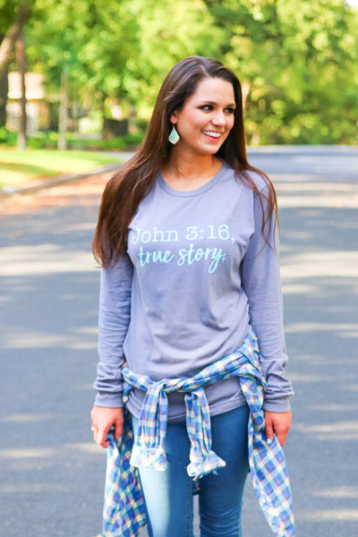 John 3:16 True  Story (Storm) - Long Sleeve Crew