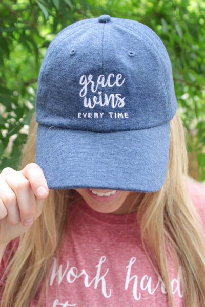 Cap - Grace Wins (Heather Navy)