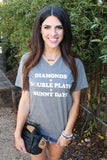 Diamonds, Double Plays & Sunny Days (Grey) - Short Sleeve