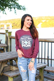 Regular Mom (Maroon Triblend) - Long Sleeve/Crew