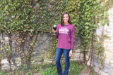 Wine Popcorn & Scandal (Maroon) - Long Sleeve