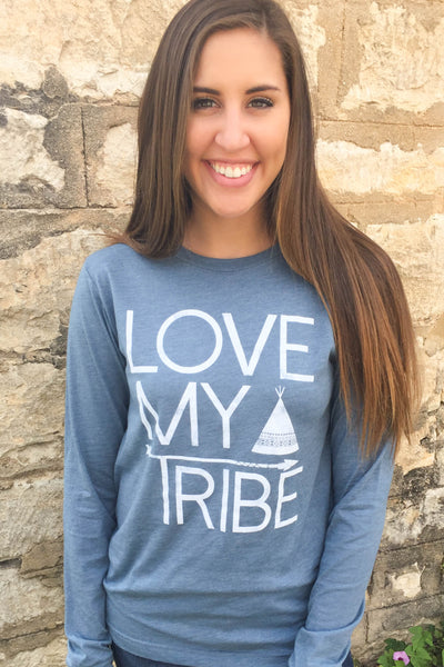 Love My Tribe (Heather Slate) - Long Sleeve