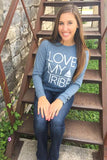 Love My Tribe (Heather Slate) - Long Sleeve / Crew