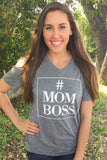 #MOMBOSS (Heather Grey) - Short Sleeve