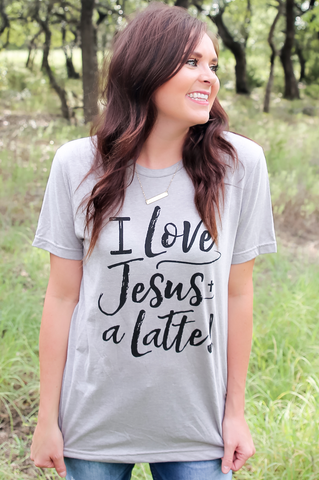 Love Jesus A Latte - Short Sleeve