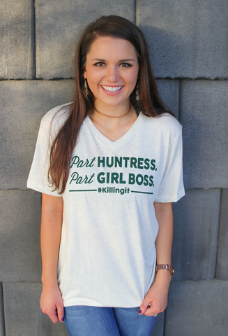 Part Huntress Part Girl Boss (Oatmeal) - Short Sleeve
