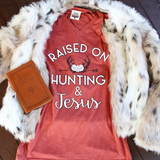 Raised On Hunting & Jesus (Clay) - Short Sleeve