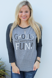 Ghouls Just Wanna Have Fun (Grey/Black Tri-blend) - 3/4 Sleeve