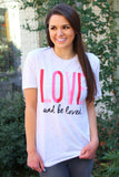 Love And Be Loved (Creme Fleck) - Short Sleeve