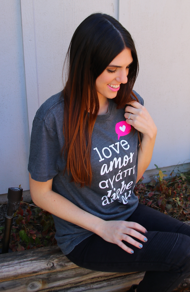 Love Languages (Vintage Charcoal) - Short Sleeve