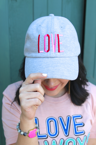 Cap - Love (Light Heather Grey)