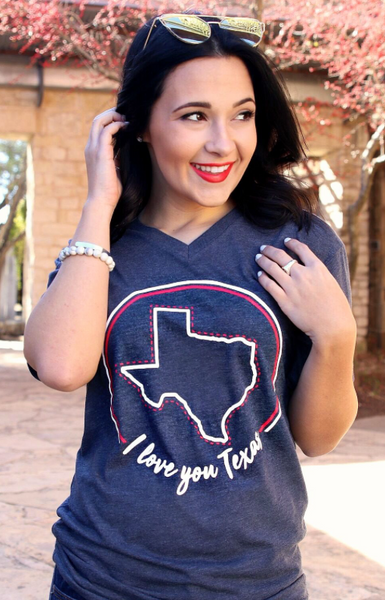 I Love You TEXAS (Vintage Navy) - Short Sleeve