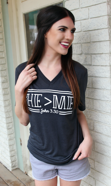 He > Me (Dark Grey) - Short Sleeve