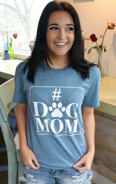 #DOGMOM (Denim) - Short Sleeve