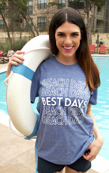 Beach Days Best Days (Navy) - Short Sleeve