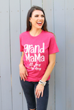 Grand Mama All Day (Heather Raspberry) - Short Sleeve / Crew