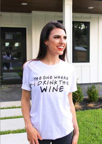 I Drink Wine (Ash) - Short Sleeve / Crew