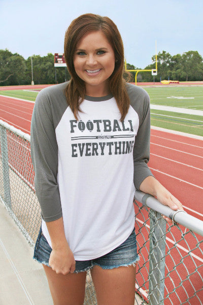 Football Above Everything - 3/4 Raglan