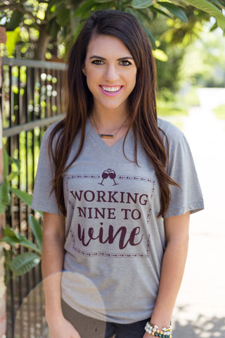 Working 9 to Wine - Short Sleeve