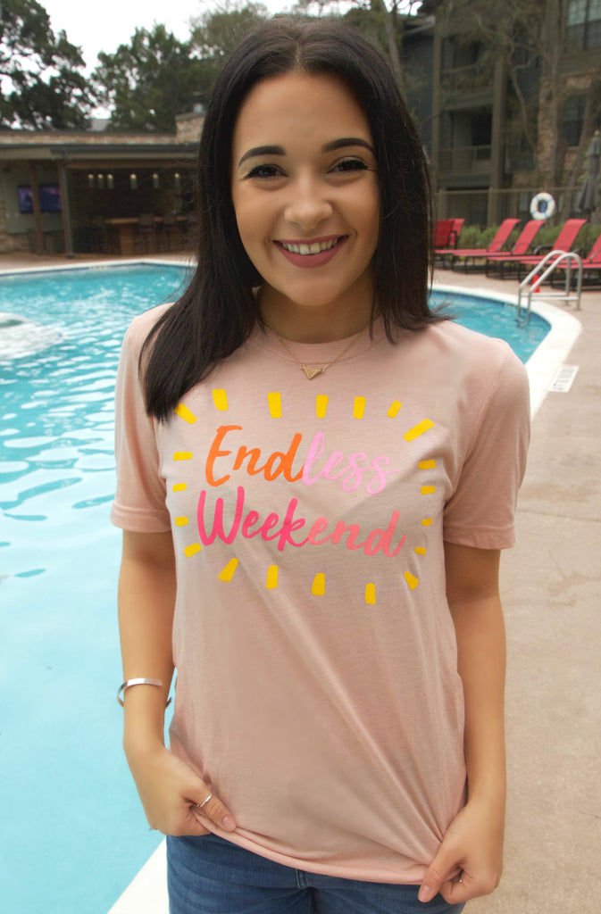Endless Weekend (Peach) - Short Sleeve