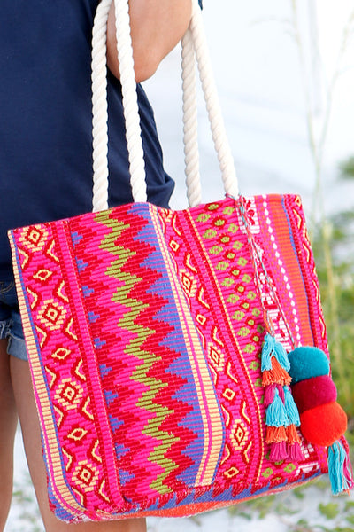 Bora Bora Tote w/Rope Handle
