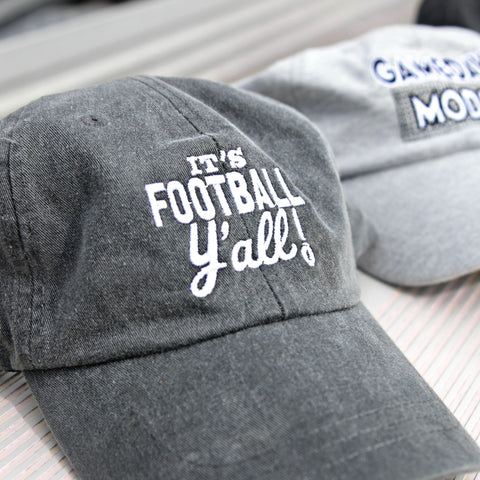 Cap - It's Football Y'all - Black Heather