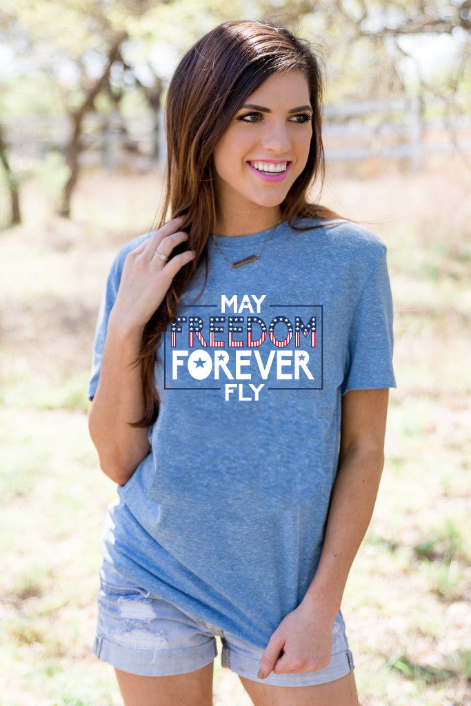 Freedom Forever Fly (Royal Blue) - Short Sleeve