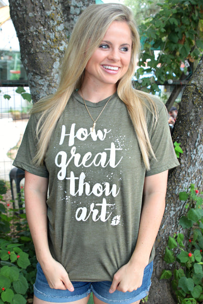 How Great Thou Art - Military Green - Short Sleeve