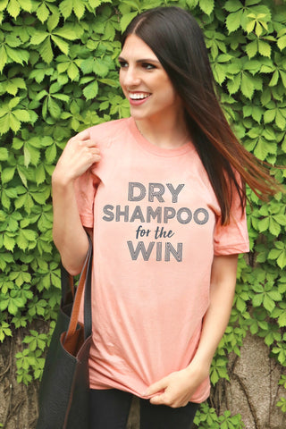 Dry Shampoo For The Win (Heather Prism Peach) - Short Sleeve
