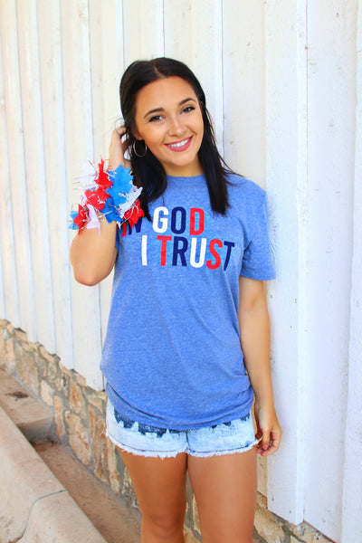 In God I Trust (Navy) - Short Sleeve