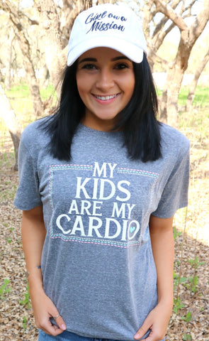 My Kids Are My Cardio (Grey Triblend) - Short Sleeve