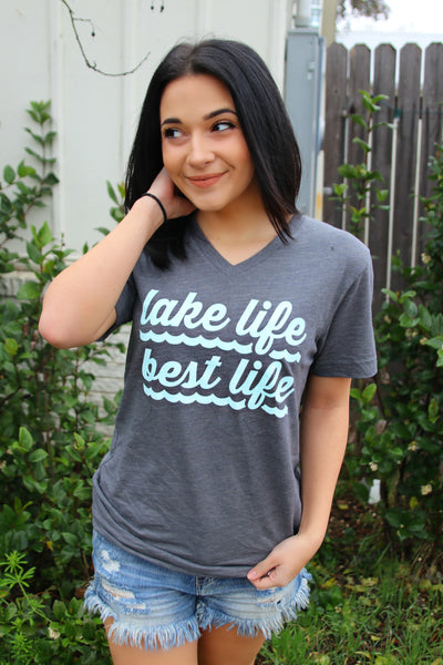Lake Life Best Life (Asphalt) - Short Sleeve