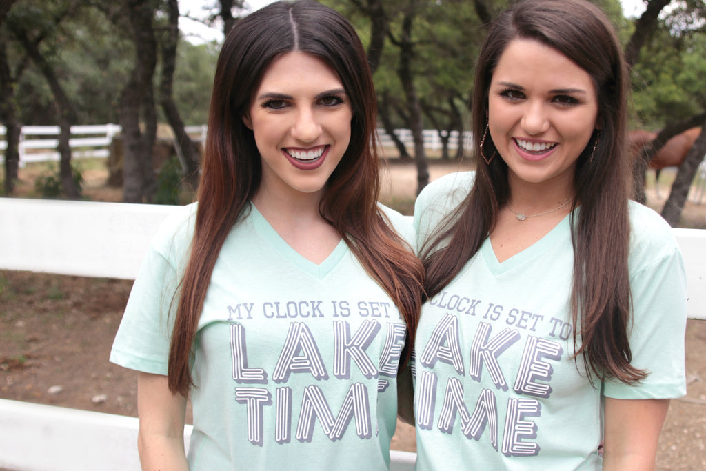 My Clock Is Set On Lake Time - Short Sleeve