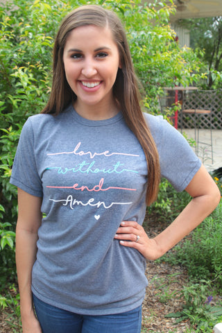 Love Without End Amen - Vintage Navy - Short Sleeve