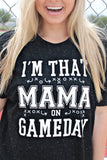 I'm That Mama FOOTBALL (Black) - Short Sleeve