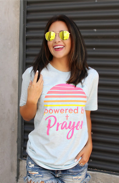 Powered By Prayer (Prism Ice Blue) - Short Sleeve