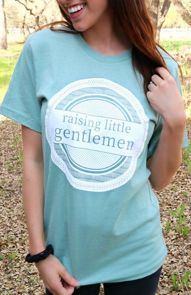 Raising Little Gentlemen (Heather Dusty Blue) - Short Sleeve