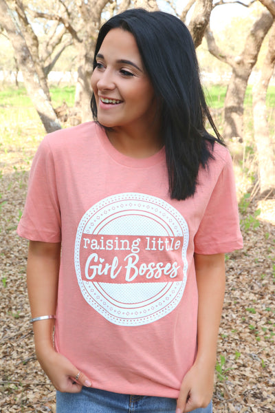 Raising Little Girl Bosses (Heather Sunset) - Short Sleeve