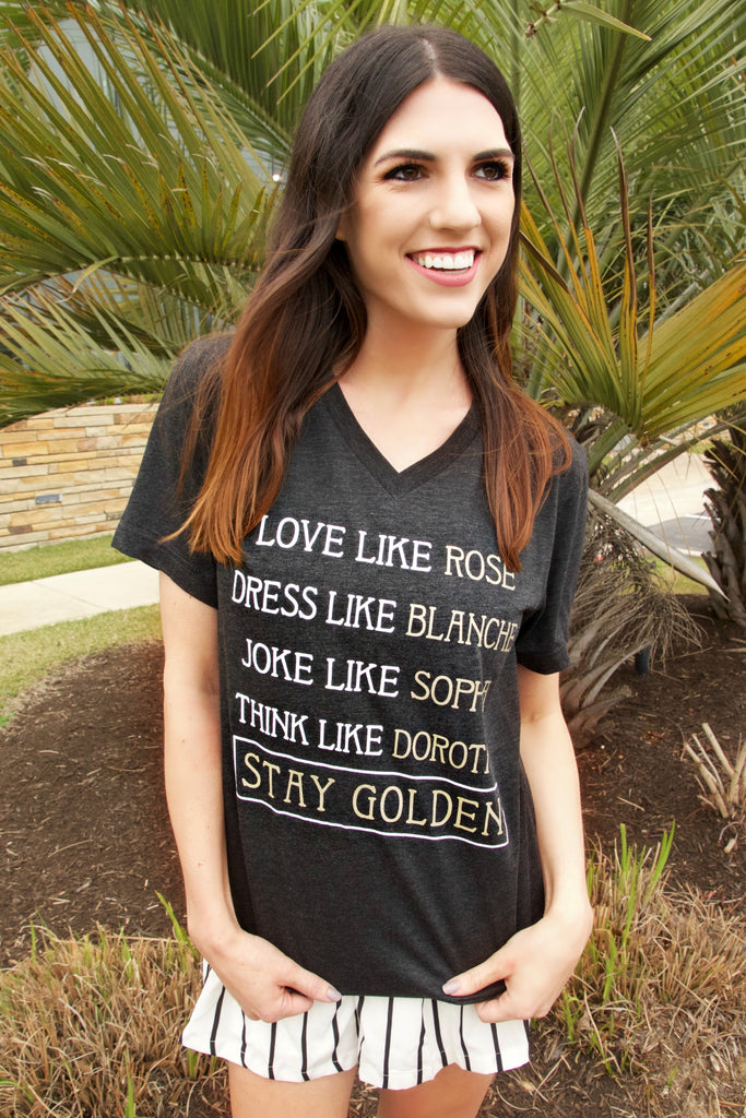 Stay Golden (Charcoal Black) - Short Sleeve