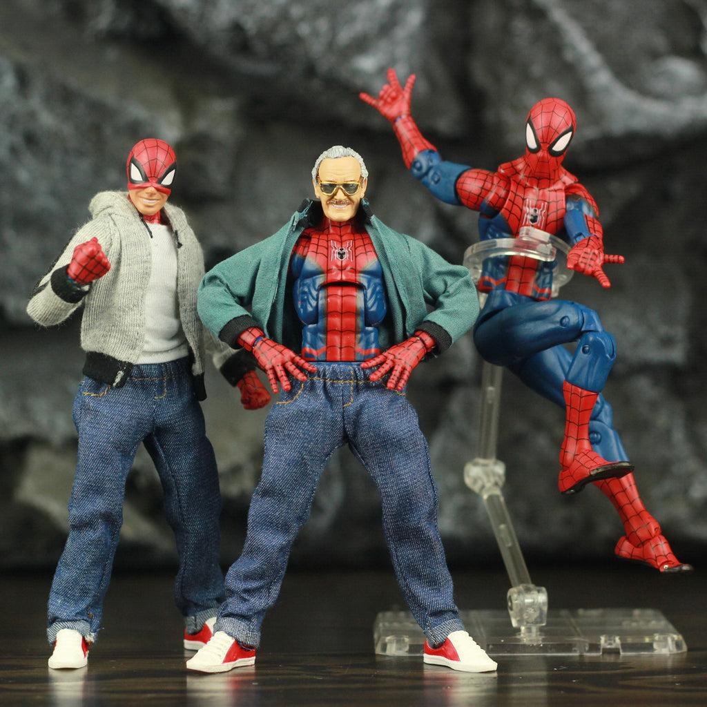 "Spider Man Peter Parker 6"" Action Figure Classic Cloth T-shirt Jeans Stanley - sindbad toys"