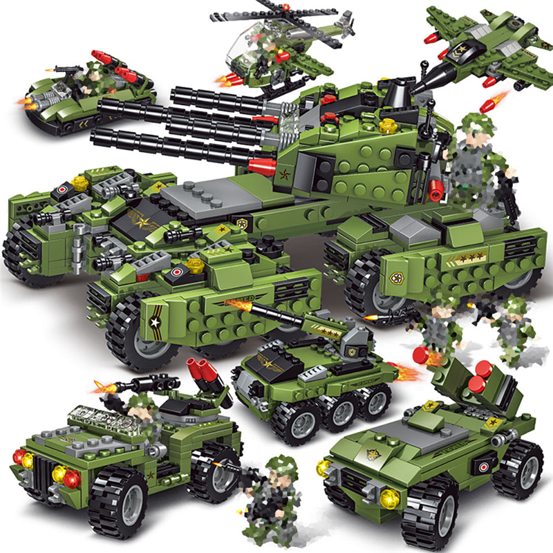 2020 710PCS Tank Building Blocks Vehicle Aircraft Boy Toys - sindbad toys