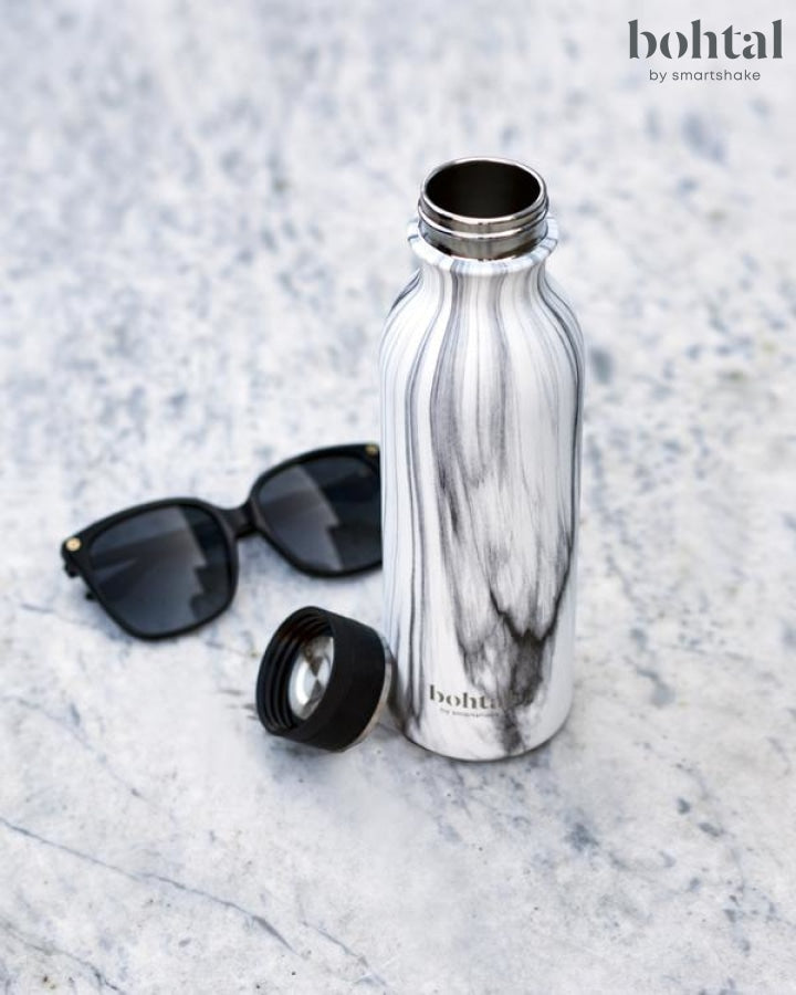 Bohtal Insulated Flask - White Marble