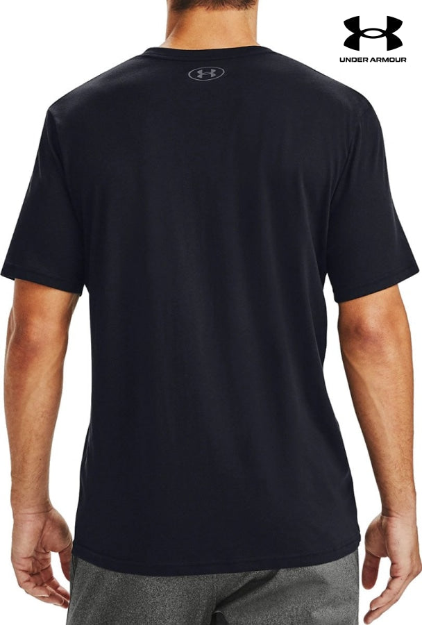 Mens Ua Box Logo Wordmark Short Sleeve