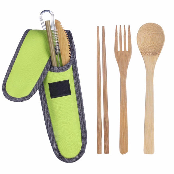 Bamboo Utensils travel Cutlery Set