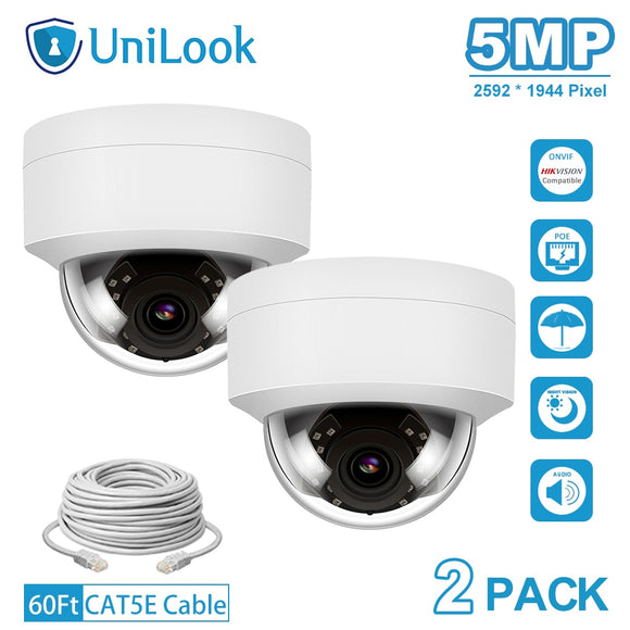 5MP HD POE IP Camera 2 PCS In Package Outdoor Security Camera
