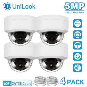 5MP HD POE IP Camera 4 PCS In Package Outdoor Security Camera